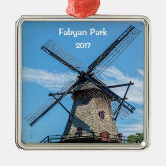 Fabyan Park-Holländer-Windmühle Silbernes Ornament