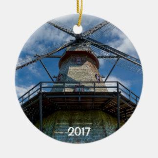 Fabyan Windmühlen-und Fox-Fluss 2 versah Keramik Ornament
