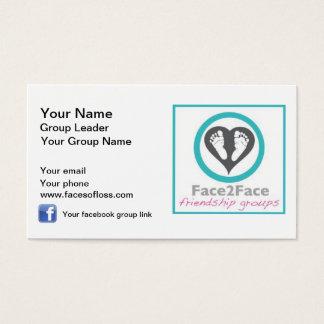 Face2Face Gruppenleiter Visitenkarte