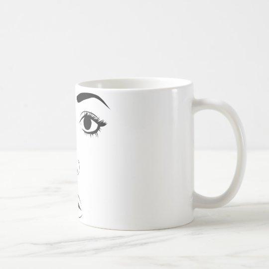 Face of Woman Kaffeetasse