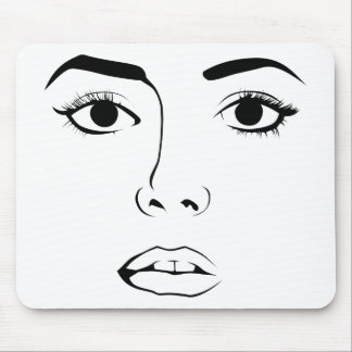 Face of Woman Mousepad
