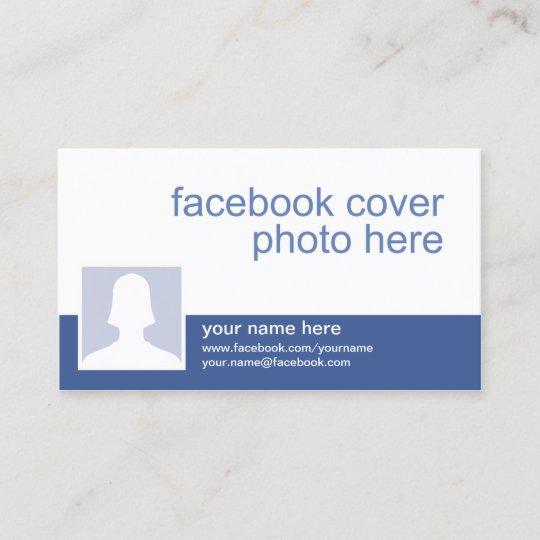 Facebook Cc0213 Visitenkarte Zazzle De