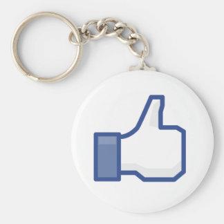 facebook Daumen MÖGEN oben grafische Schlüsselanhänger