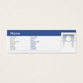 Facebook - dünn mini visitenkarte