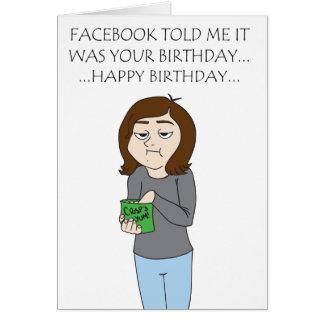 Facebook Geburtstags-Karte Karte