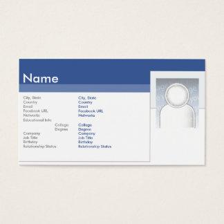 Facebook - Geschäft Visitenkarten