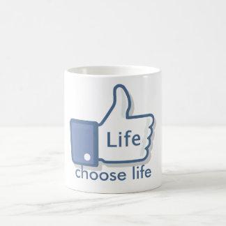 Facebook mögen Leben Daumen-Oben Kaffeetasse