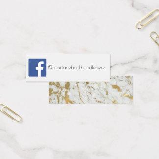 facebook Sozialmedium-MarmorVisitenkarte Mini Visitenkarte