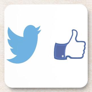 Facebook Twitter Untersetzer