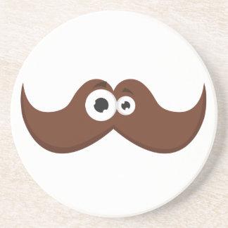 Facetache - der Schnurrbart mit einem Gesicht Getränkeuntersetzer