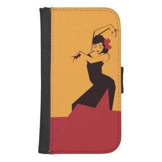Facettierter Flamenco Geldbeutel Hülle Für Das Samsung Galaxy S4