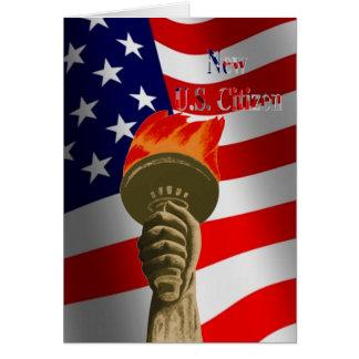 Fackel Freiheit der neuen US-Bürger-Karte Grußkarte