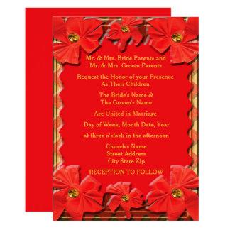 Fackel-rote Bänder, die Einladung Wedding sind