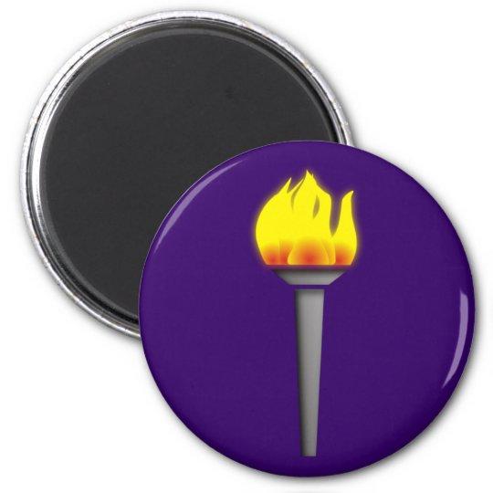 fackel torch runder magnet 5,1 cm