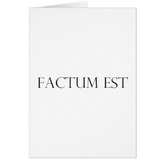 factum est Latein latin Karte
