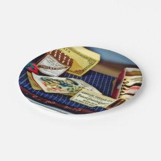 Faden und Buttone im Allgemeinen Speicher Pappteller