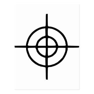 Fadenkreuze - Gewehr Postkarte