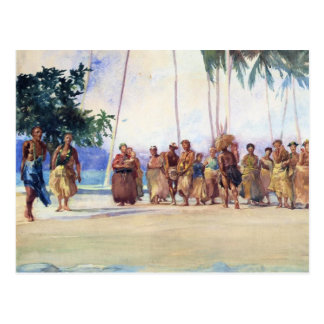 """Fagaloa Bucht, Samoa-Inseln, 1890"" - Postkarte"