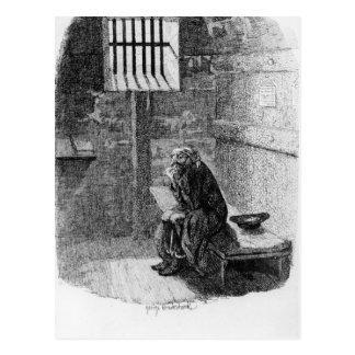Fagin in der verurteilten Zelle Postkarte