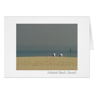 Fahaheel Strand, Kuwait - Männer, die das Leben Karte