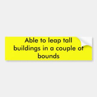 Fähig, hohe Gebäude in ein paar Grenzen zu Autoaufkleber