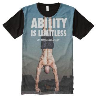 Fähigkeit ist - der motivierend Workout grenzenlos T-Shirt Mit Bedruckbarer Vorderseite