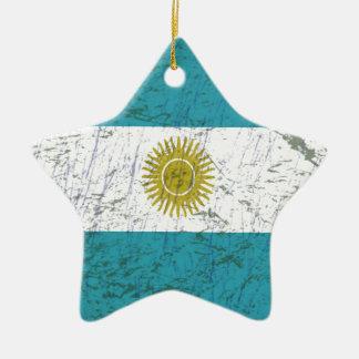 Fahne Argentiniens Keramik Ornament