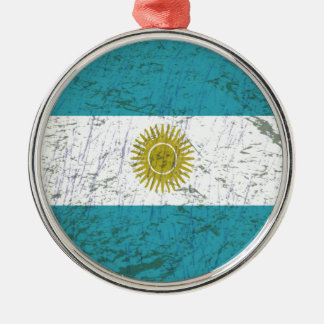 Fahne Argentiniens Silbernes Ornament