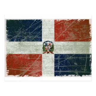 FAHNE AUS DER DOMINIKANISCHER REPUBLIK POSTKARTE