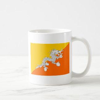 Fahne Bhutans Kaffeetasse