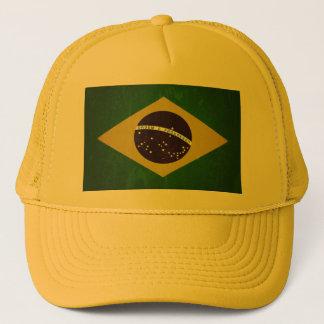 Fahne Brasiliens ,(grunge) Truckerkappe