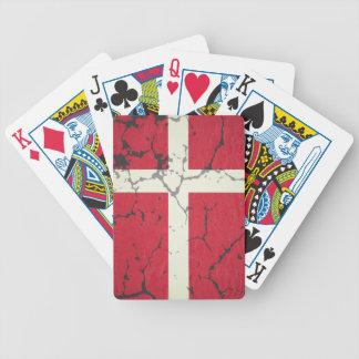 Fahne Dänemarks Bicycle Spielkarten