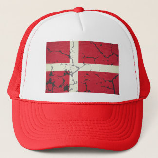 Fahne Dänemarks Truckerkappe