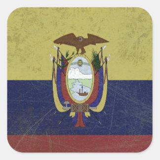 Fahne des Äquators Quadratischer Aufkleber