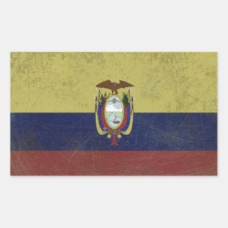 Fahne des Äquators Rechteckiger Aufkleber
