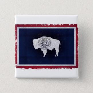 Fahne des Wyoming Quadratischer Button 5,1 Cm