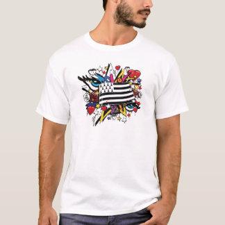 Fahne die Bretagne Breizh Wandmalerei Breton graff T-Shirt