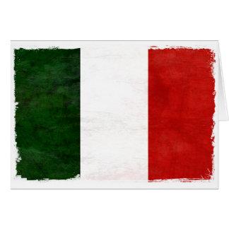 Fahne Italiens Abnutzt Karte