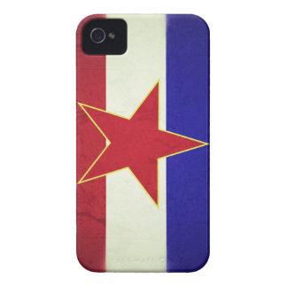 Fahne Jugoslawien iPhone 4 Case-Mate Hülle
