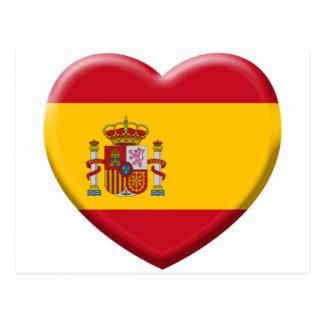 Fahne Spanien Postkarte
