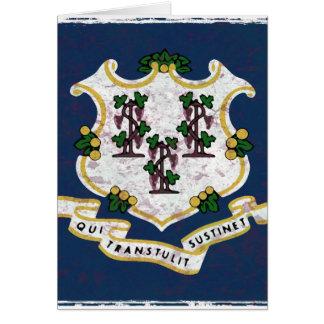 Fahne von Connecticut Karte