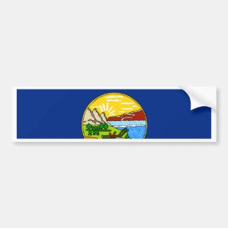 Fahne von Montana Autoaufkleber
