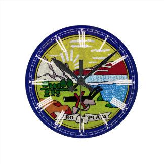 Fahne von Montana Runde Wanduhr