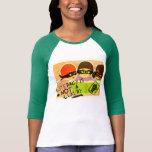 Fahnen-Baseball T Shirts