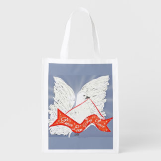 Fahnen-Taube Wiederverwendbare Einkaufstasche