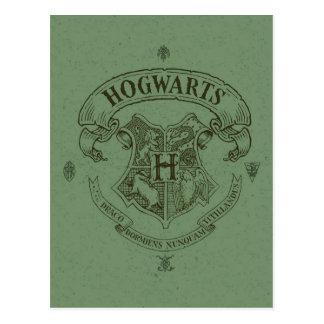 Fahnen-Wappen Harry Potter | Hogwarts Postkarte
