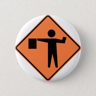 Fahnenträger-voran Landstraßen-Zeichen Runder Button 5,7 Cm