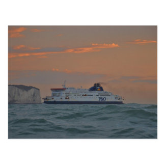Fähre, die Dover kommt Postkarte