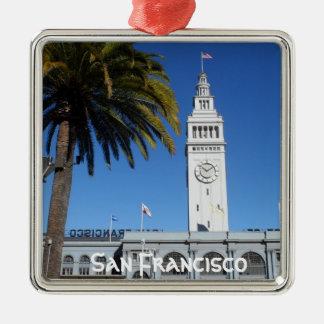 Fähre, die San Francisco errichtet Silbernes Ornament