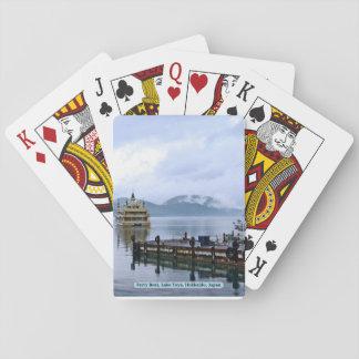 Fähre, See Toya, Hokkaido, Japan Spielkarten
